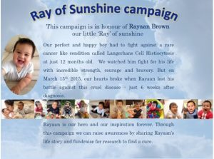 Ray of sunshine' campaign in memory of Rayaan Brown